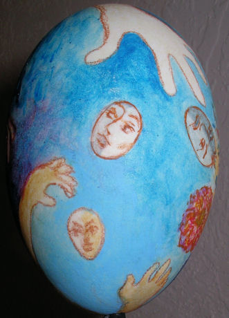 painted egg photo